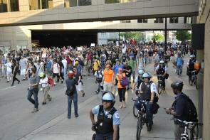 NATO Protest Chicago Protestors 16