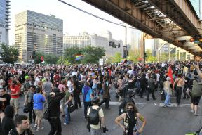 NATO Protest Chicago Protestors 19