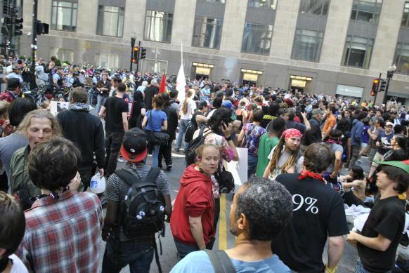 NATO Protest Chicago Protestors 34
