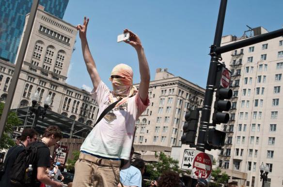 NATO Protest Chicago Protestors 38