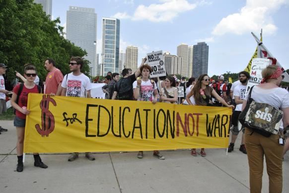 NATO Protest Chicago Protestors 70