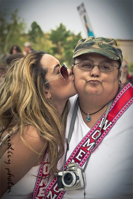War on Women Santa FE NM 03 Jen getting a kiss from Teddie
