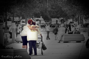 War on Women Santa FE NM 04 Jen Brittany hugging one million bones