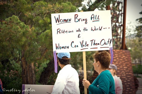 War on Women Santa FE NM 10 sign women brought politicians in we can take them out