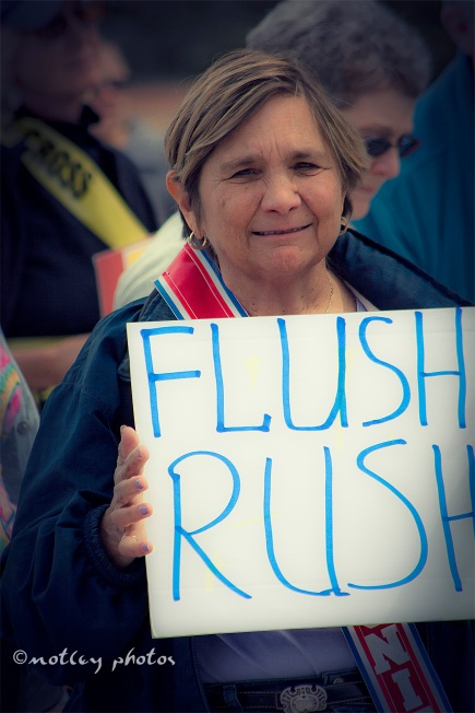 War on Women Santa FE NM 22 flush rush sign
