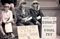 War on Women Santa FE NM 31Signs equal pay for equal work
