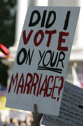 from Donald california vote on gay marriages