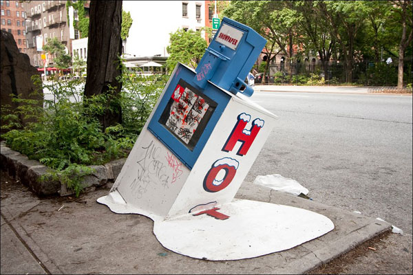 heat wave melts metal newspaper stand motley news