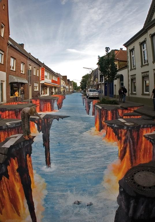 Amazing 3D Street Chalk Art