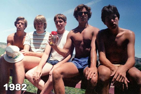 Copco Lake five friends photo tradition 1982