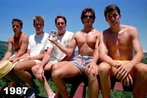 Copco Lake five friends photo tradition 1987