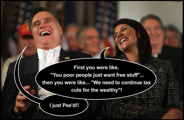 mitt romney laughing about poor people wanting stuff and rich people getting tax cuts czeshop images rich men laughing meme