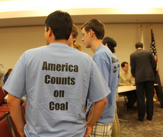 Pro-coal T-shirt back side