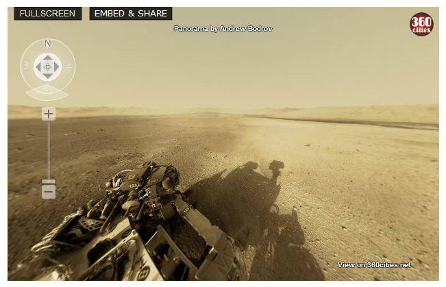 Mars Interactive 360 degree panoramic footage