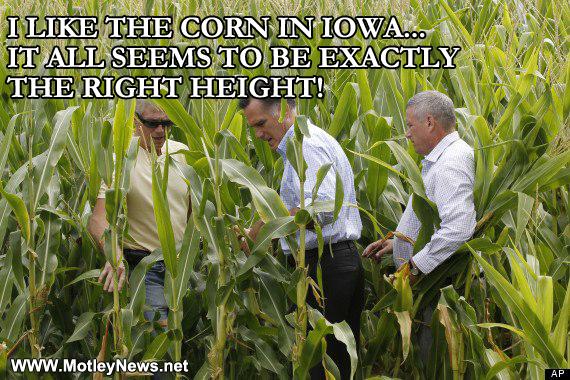 Mitt Romney Meme I Love The Corn In Iowa It S Just The