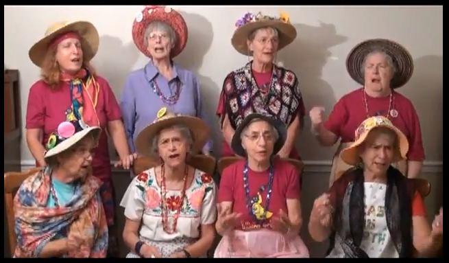 Raging Grannies singing video snapshot