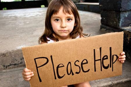 Being poor little girl sign please help
