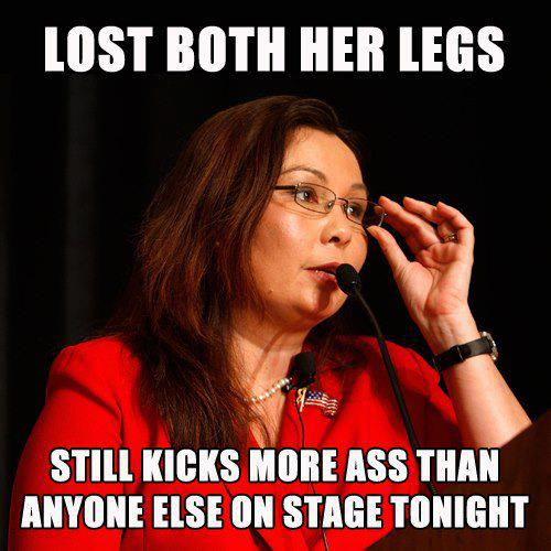 Democratic National Convention Tammy Duckworth image captions kicks ass