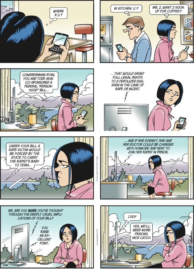 Doonesbury Comic Strip From  Fly On Glasses
