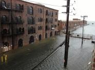 Flooded street. Red Hook.