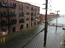 Flooded street. Red Hook.
