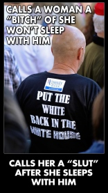 Put the White Back in the White House twit pic calls women sluts after sleeping with him
