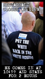 Put the White Back in the White House twit pic restaurant closes 11