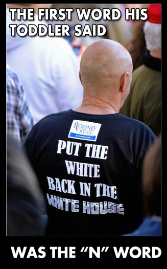 Put the White Back in the White House twit pic TODDLER'S FIRST WORD WAS THE N WORD