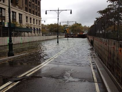 Battery Tunnel completely flooded
