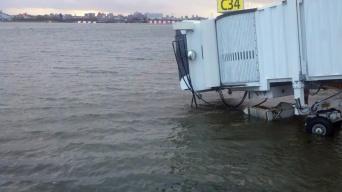 La Guardia Airport flooded. Photo: Frank Giannola