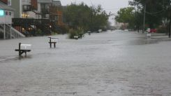 Sandy's wrath brings water to Grandview Island in Hampton, Va. Facebook/Sherry Winstead Martin