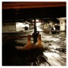 Water pours into a parking garage on Avenue C in Manhattan. Photo: Michael Christopher Brown for TIME