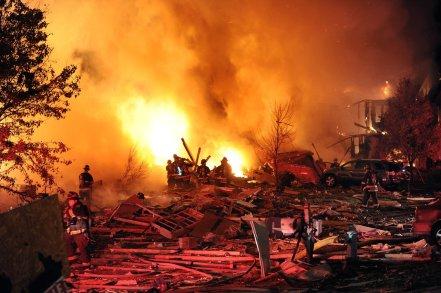 Very intense hot fire. Matt Kryger / The Star