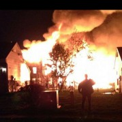 Very HOT fire. Taken by a neighbor before being evacuated.