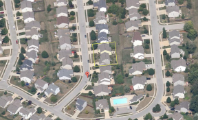 BEFORE: Aerial shot of Indy homes before explosion. Google Maps taken 2007.