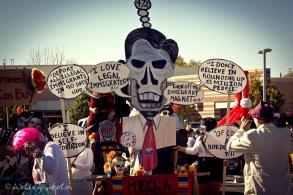 Mitt Skeleton Romney on illegal immigration 02 _Dia de los Muertos ABQ 2012