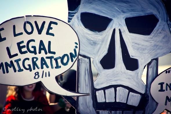 Mitt Skeleton Romney on illegal immigration 05 _Dia de los Muertos ABQ 2012