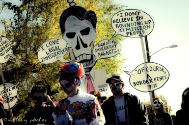 Mitt Skeleton Romney on illegal immigration 06 _Dia de los Muertos ABQ 2012