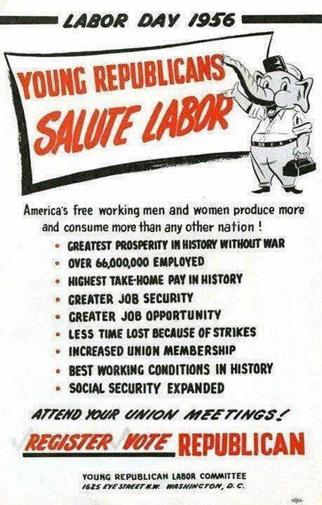 1950's Republican flyer