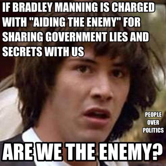 Are we the enemy Wikileaks Bradley Manning
