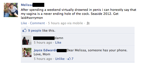 funny facebook post someone took daughters phone