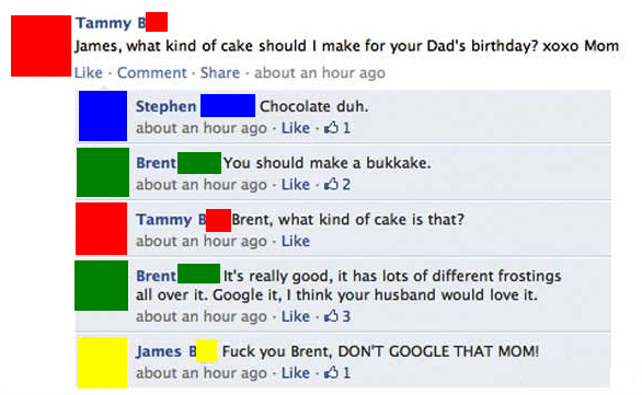 funny facebook post what kind of cake for fathers birthday