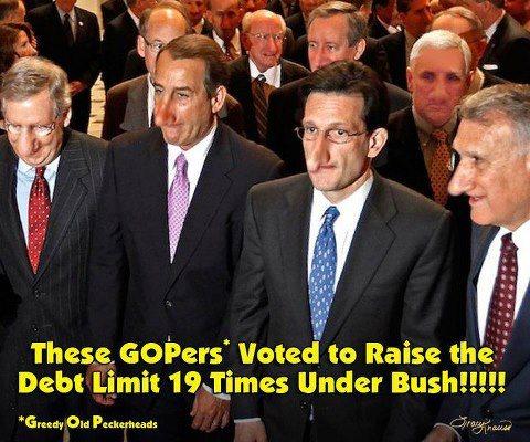 GOP voted to raise the debt limit 19 times under Bush