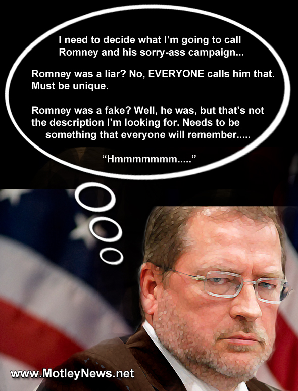 Grover Norquist Romney was a poopy head 22 thinking to self