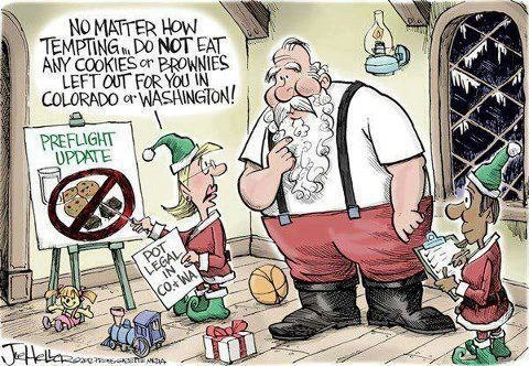 Warning to Santa Do not eat brownies in CO or WA