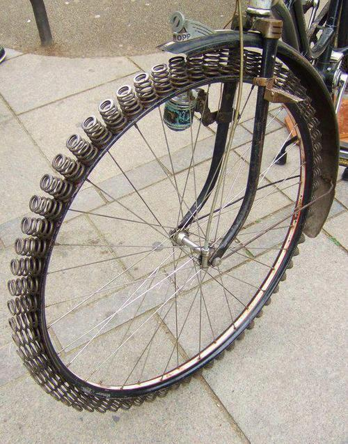 Bike tire made from springs