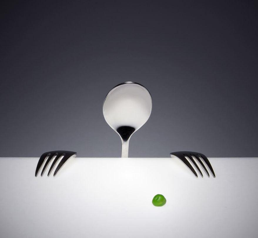 Fine silverware for dinner