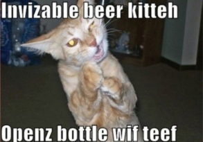 Invisible_cat_berr_kitty_open_bottle_with_teeth