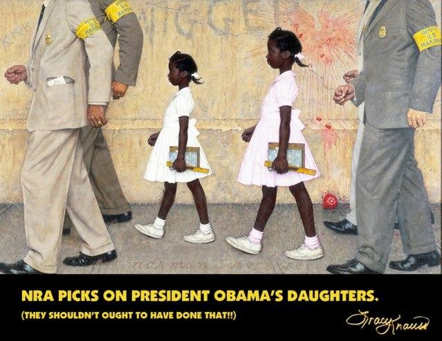 Tracy Krauss NRA picking on Obamas children