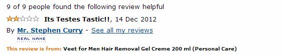Veet for men hair removal amazon comment Its Testes Tastic!!